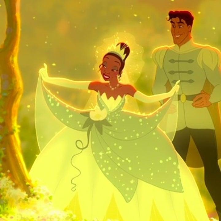 Tiana wears a ballgown