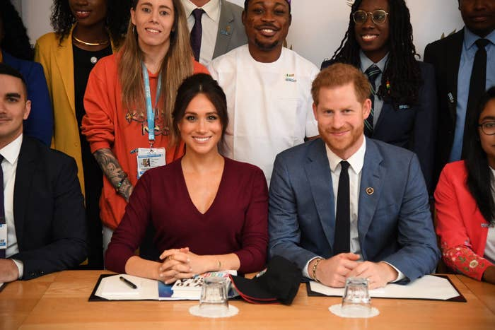 Meghan and Prince Harry attend a roundtable discussion on gender equality with the Queen's Commonwealth Trust