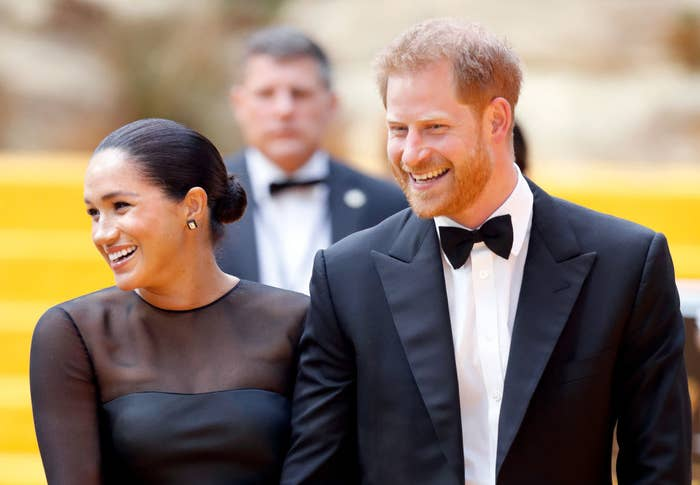 """Meghan and Prince Harry attend """"The Lion King"""" European Premiere"""