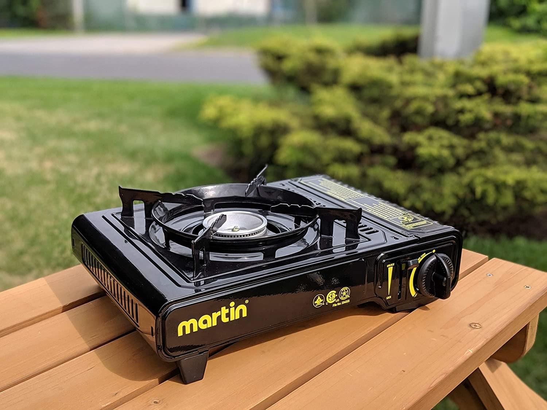 A heavy-duty camping stove