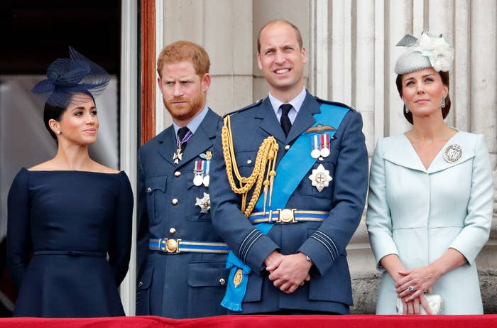 Meghan, Harry, William, and Kate at a royal event