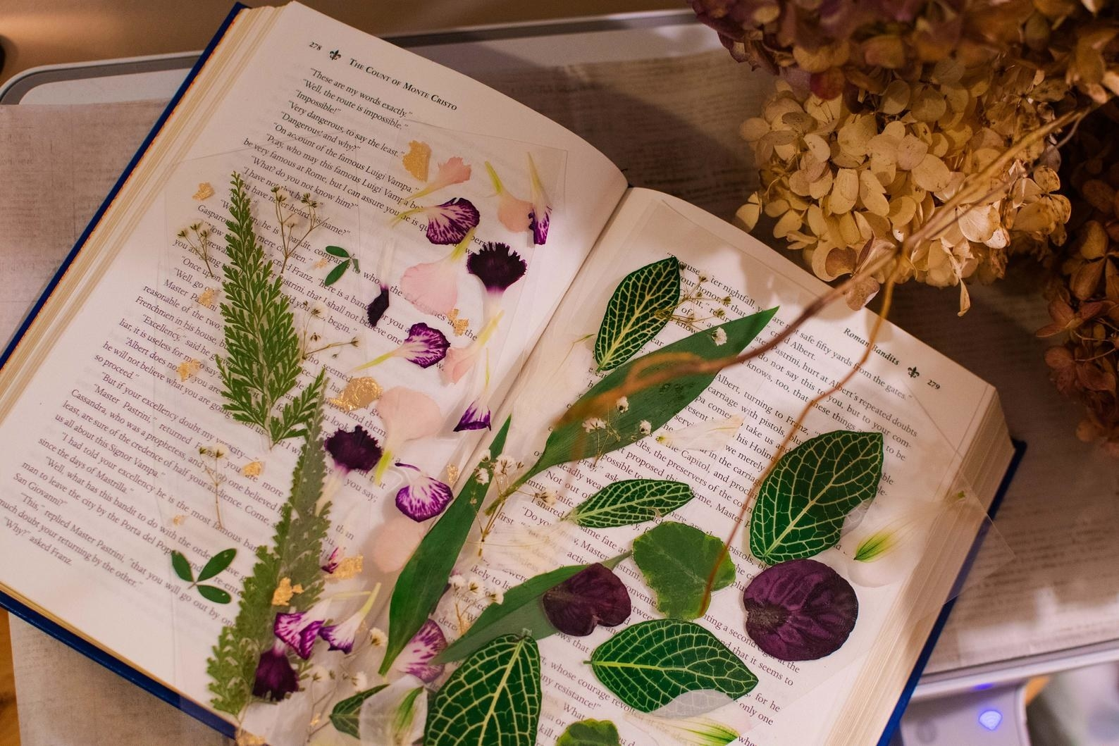 the pressed flower bookmarks
