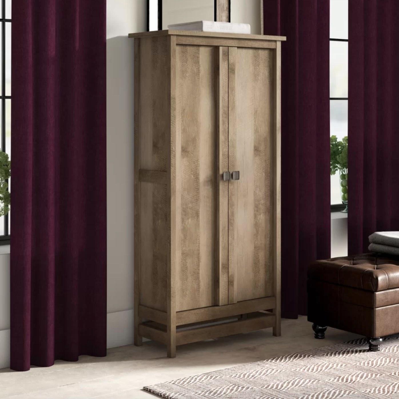 The storage cabinet armoire in lintel oak