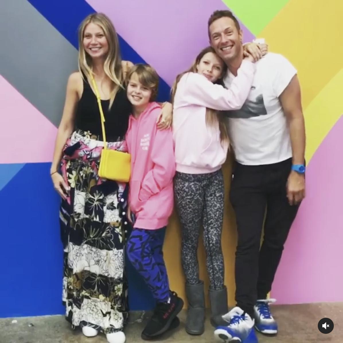 Gwyneth Paltrow, Chris Martin, and kids