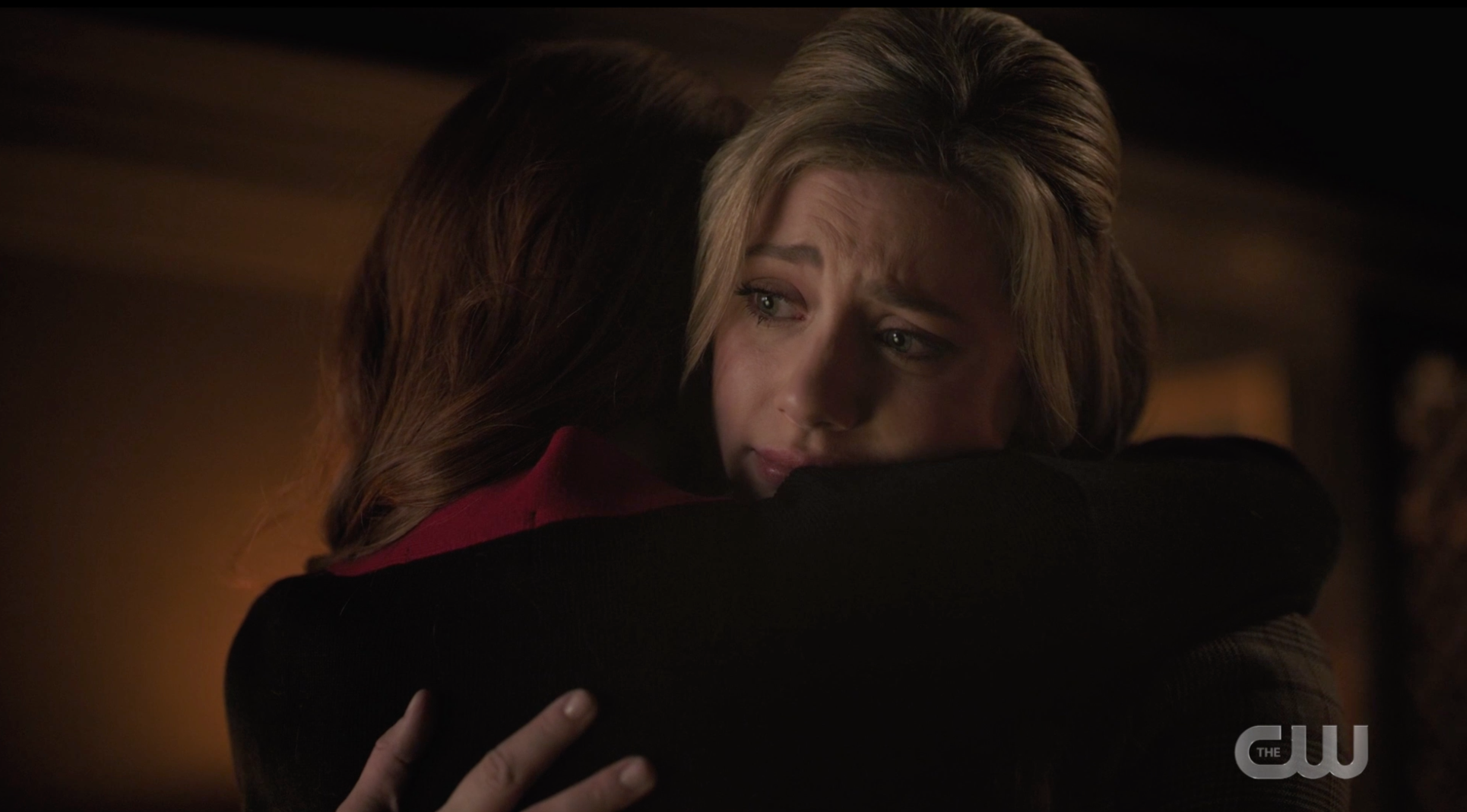 Cheryl and Betty hugging