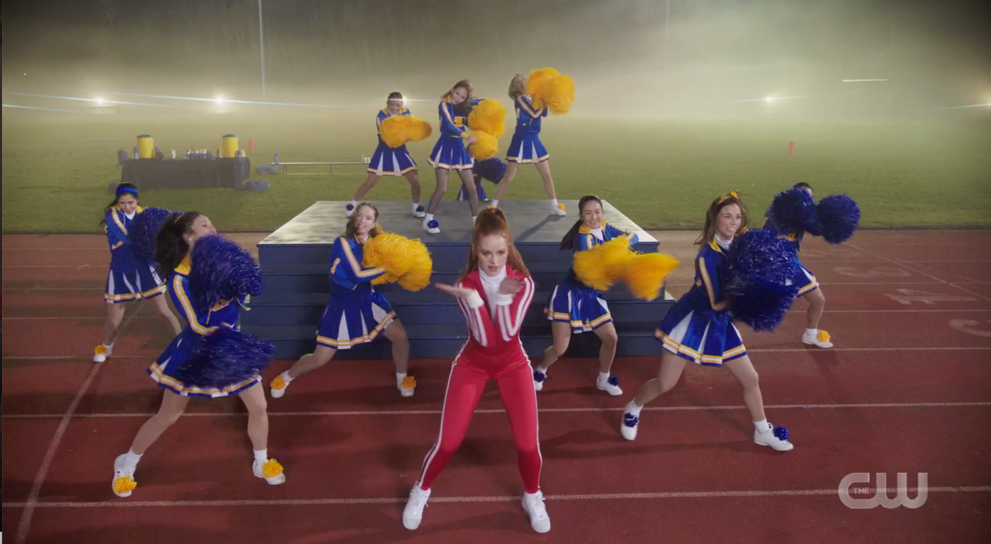 Cheryl Blossom performing with the River Vixens