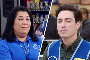 Sandra and Jonah from Superstore