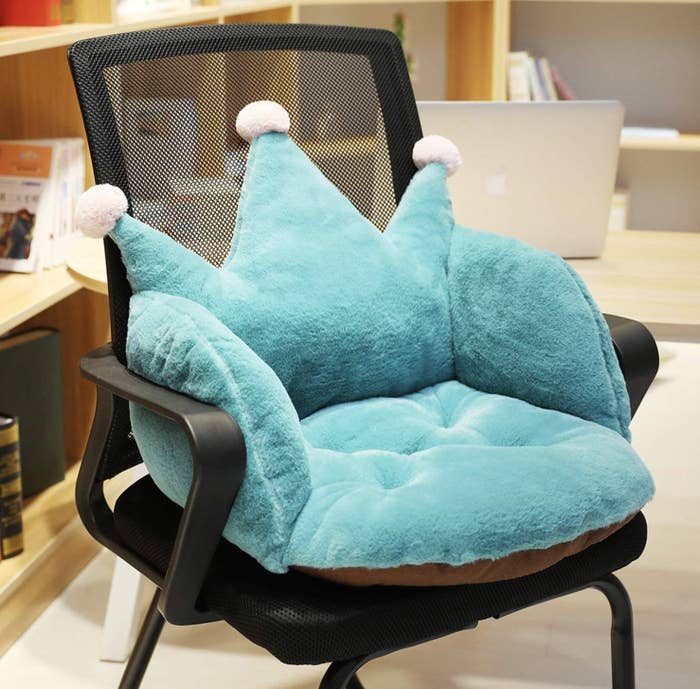 cushion shaped like crown