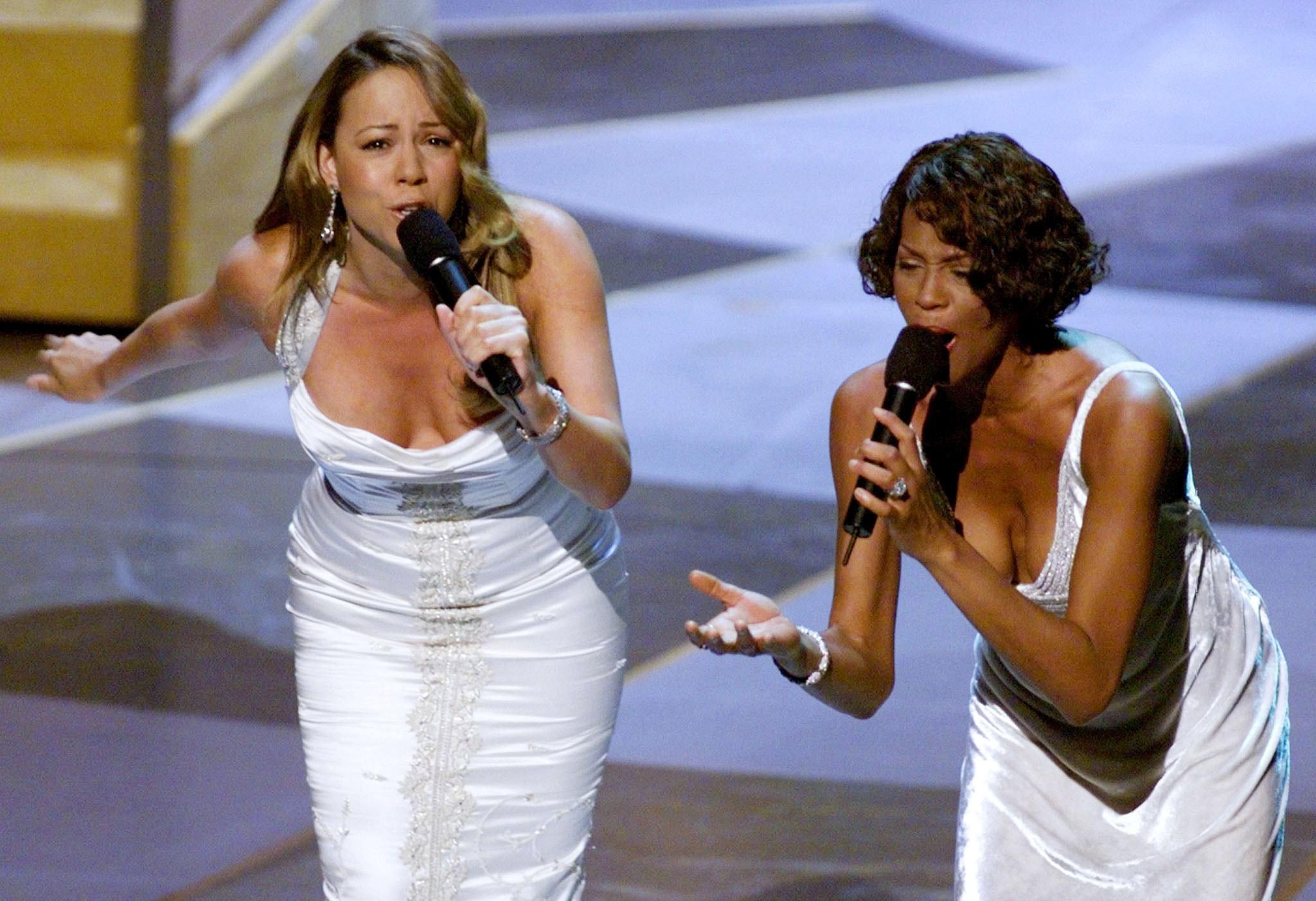 mariah carey and whitney houston singing together