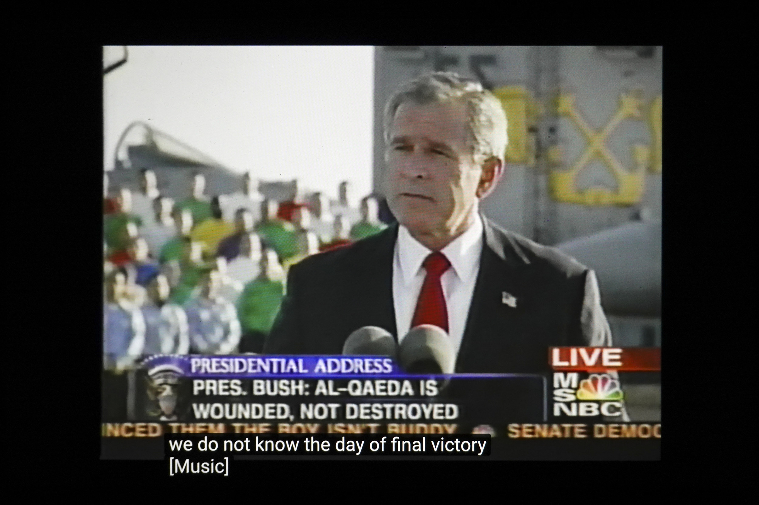 George Bush making an announcement on MSNBC