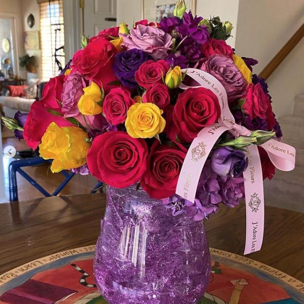 Vicki Lawrence's Hannah Montana bouquet