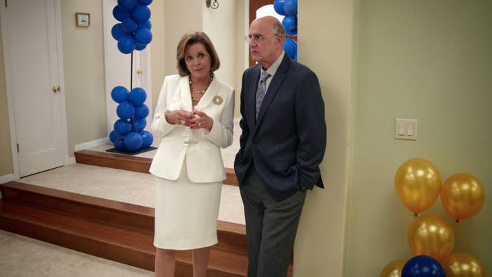 Lucille (Walter) and George Bluth Sr. (Tambor) in Arrested Development