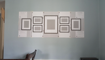 A customer review photo showing the guide on their wall