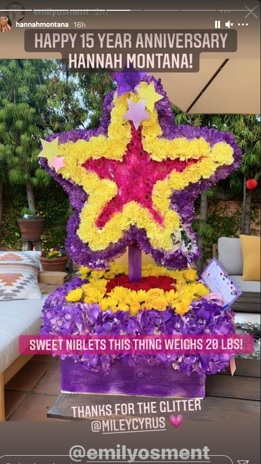Emily Osment's Hannah Montana bouquet