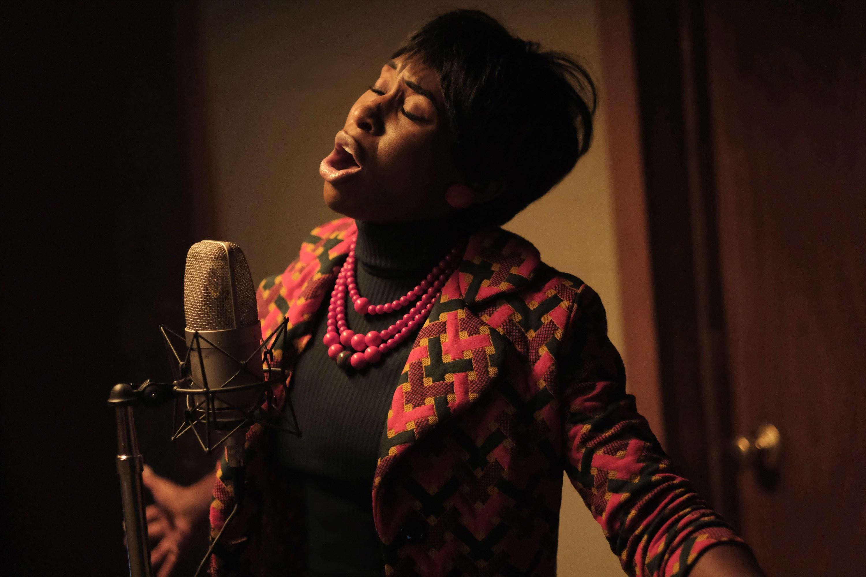 Cynthia Erivo singing as Aretha Franklin