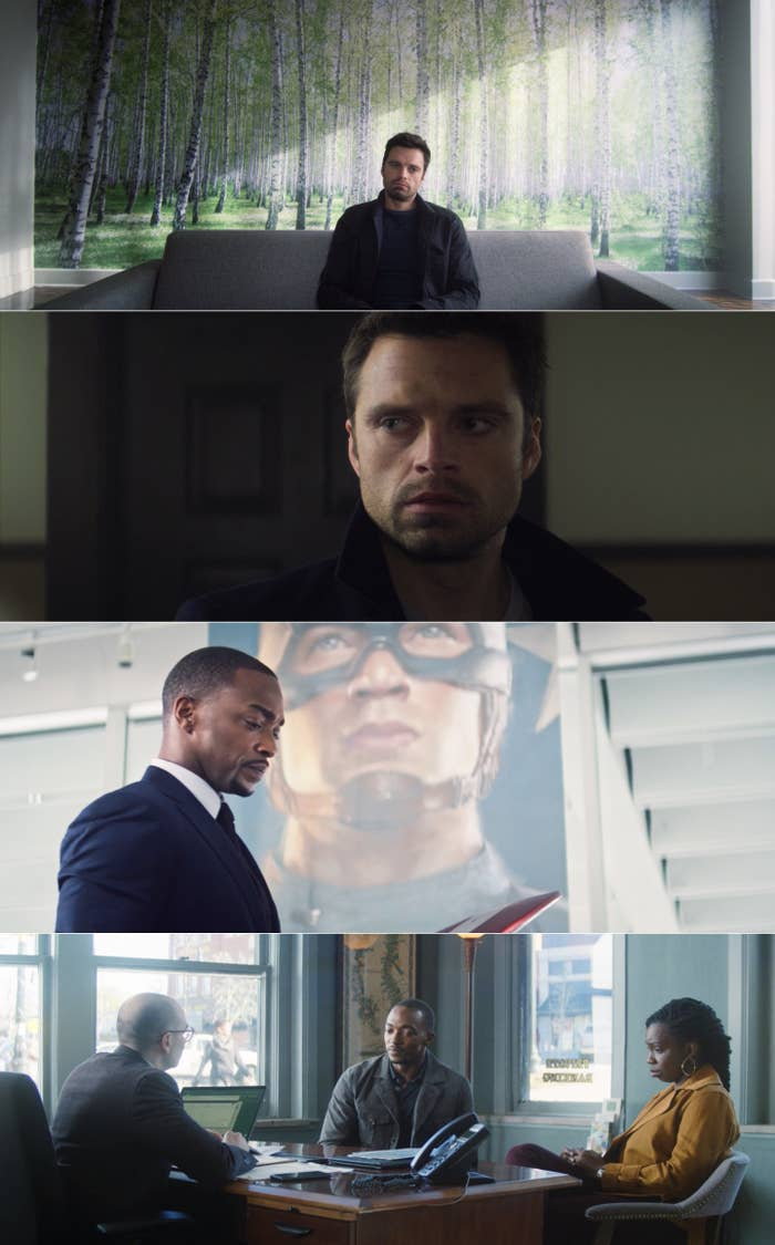 """Anthony Mackie and Sebastian Stan in """"The Falcon and the Winter Soldier"""""""