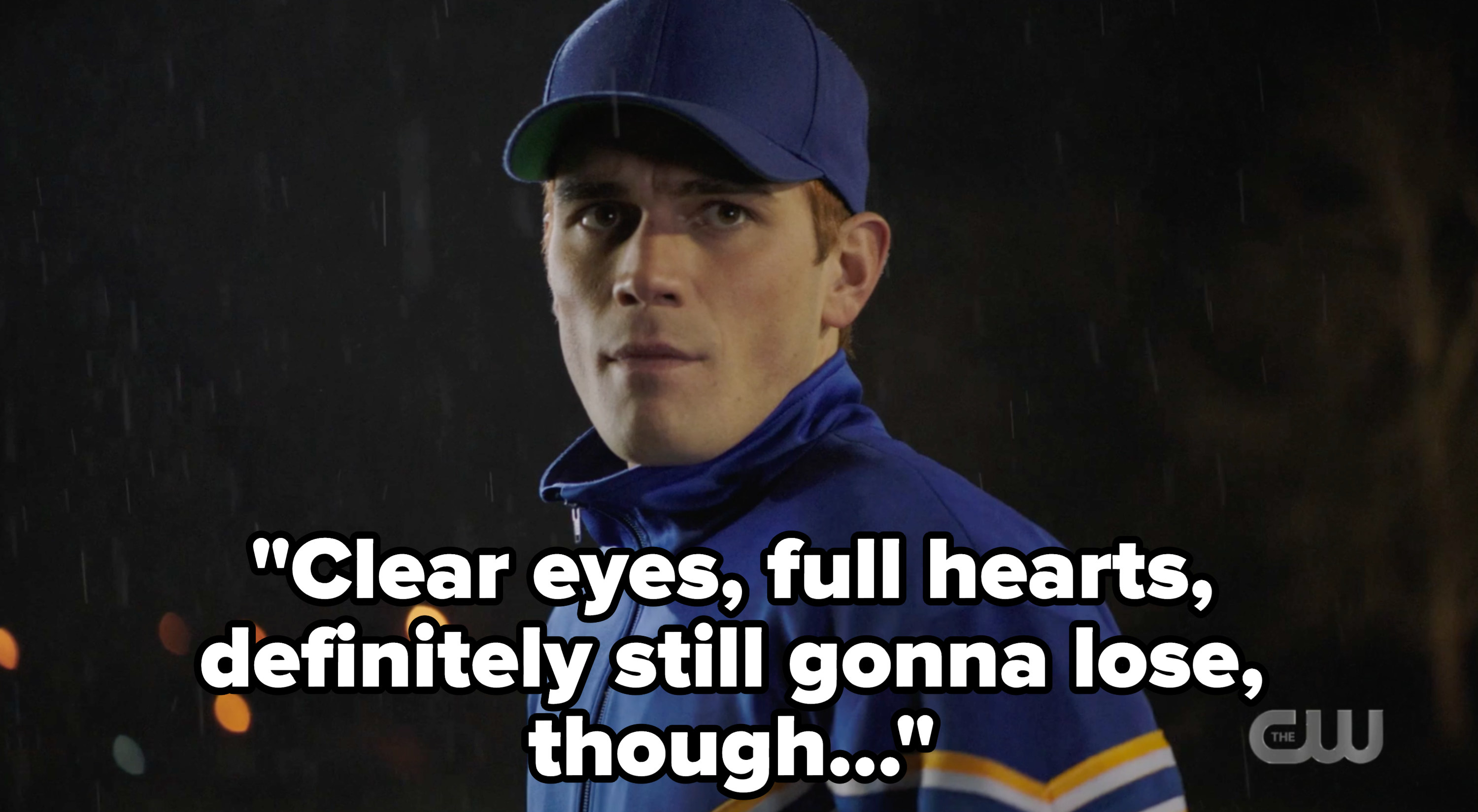 """Coach Archie with """"clear eyes, full hearts, definitely still gonna lose though..."""""""
