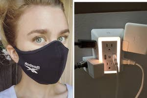 face mask and outlet