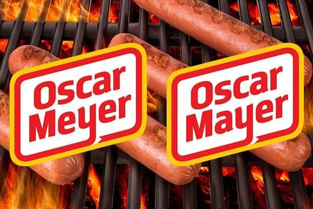 Images of the Oscar Mayer logo and the Oscar Meyer logo