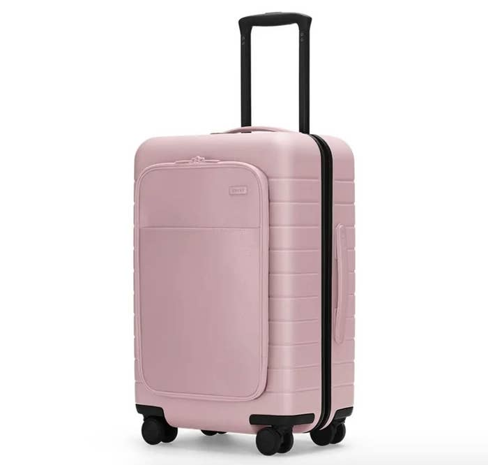 The carry-on suitcase in rose gold