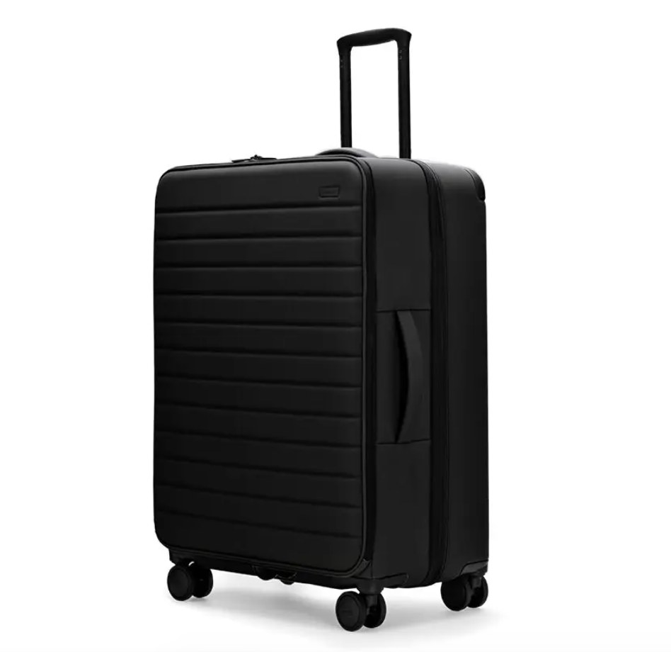 The suitcase in black