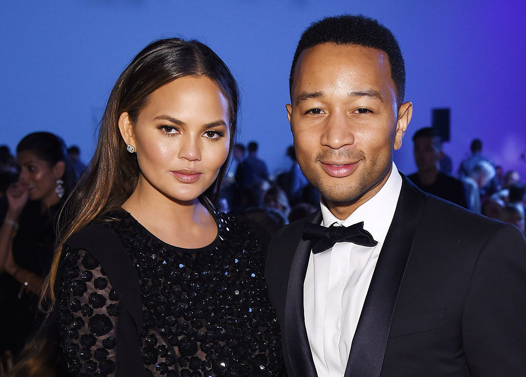 Chrissy and John at a black-tie event