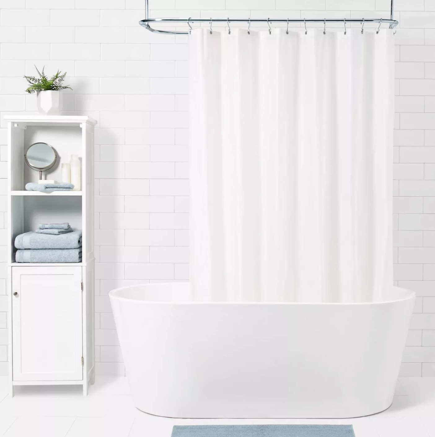 The frosted shower liner