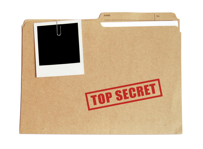 A manila envelope labelled TOP SECRET