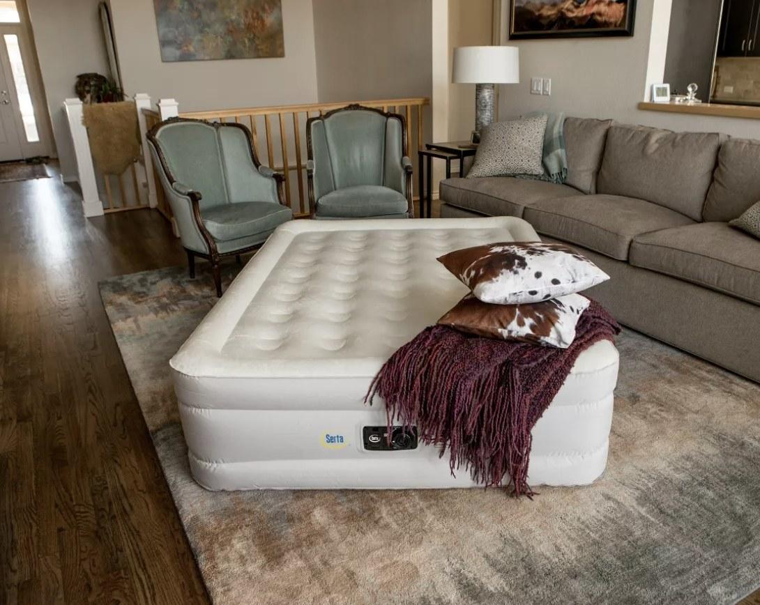A white air mattress