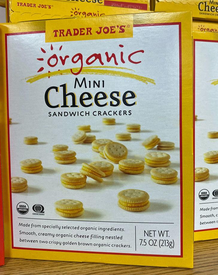 Mini Cheese Sandwich Crackers