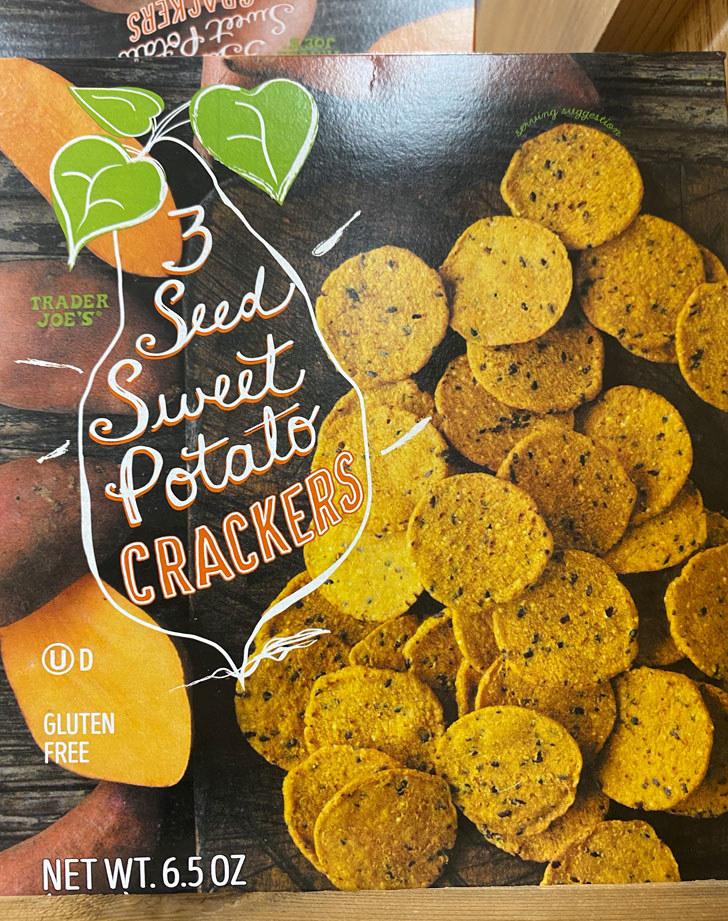 3 Seed Sweet Potato Crackers