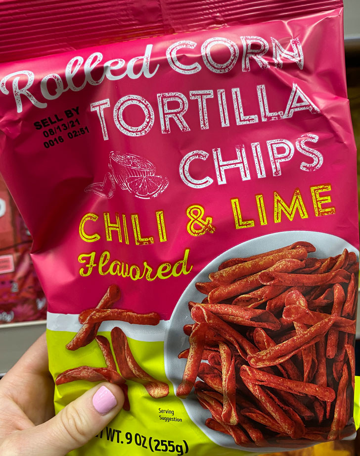 Chili & Lime Rolled Corn Tortilla Chips