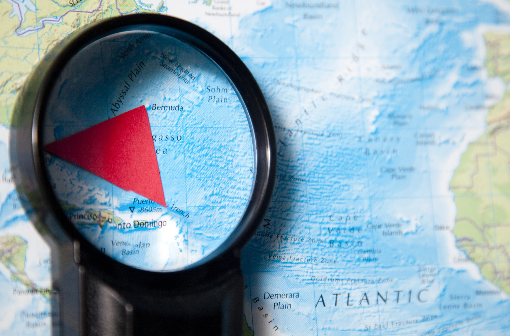 The triangle on a map
