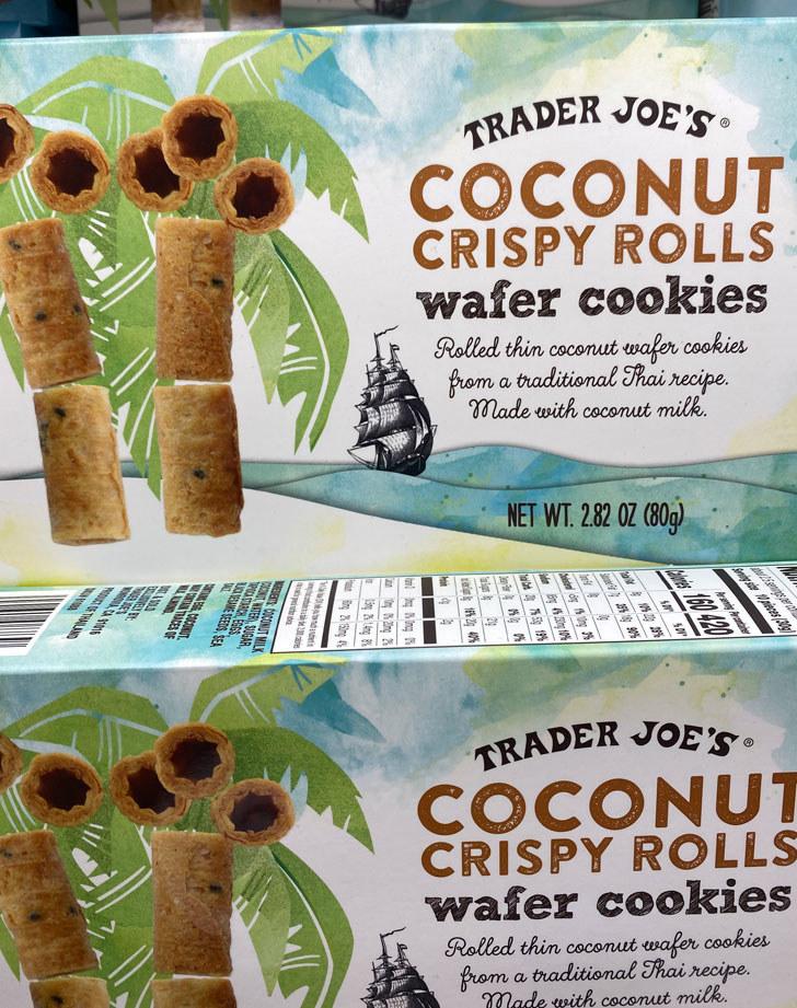 Coconut Crispy Rolls Wafer Cookies