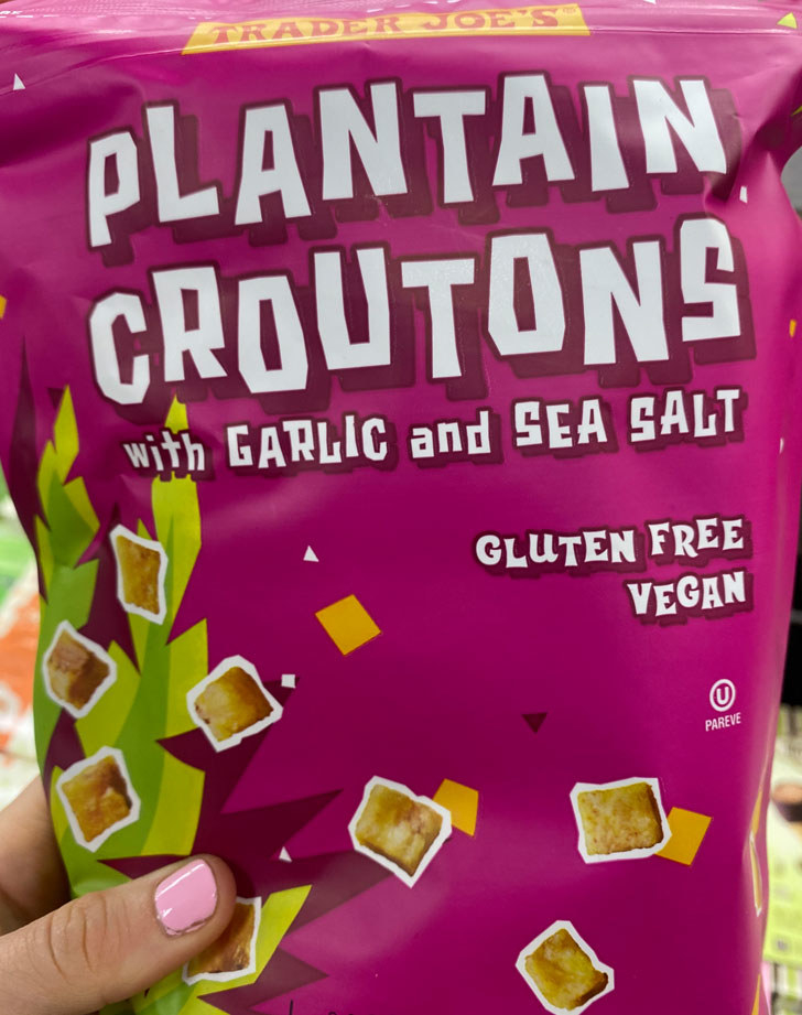 Plantain Croutons With Garlic and Sea Salt