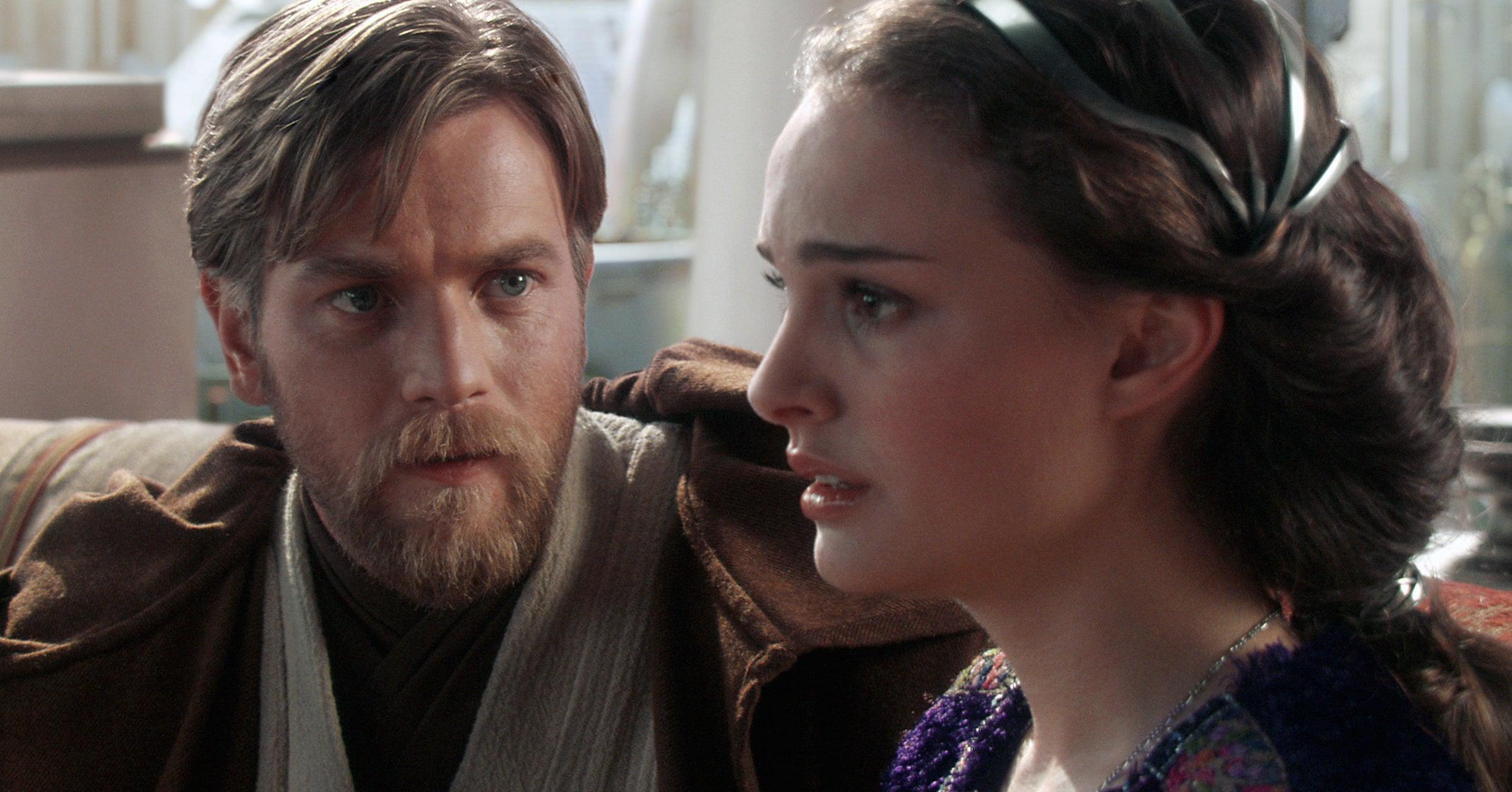 """Ewan McGregor and Natalie Portman in """"Star Wars: Episode III"""""""