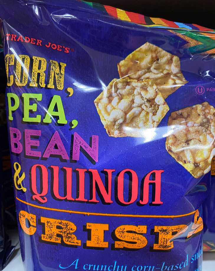 Corn, Pea, Bean & Quinoa Crisps