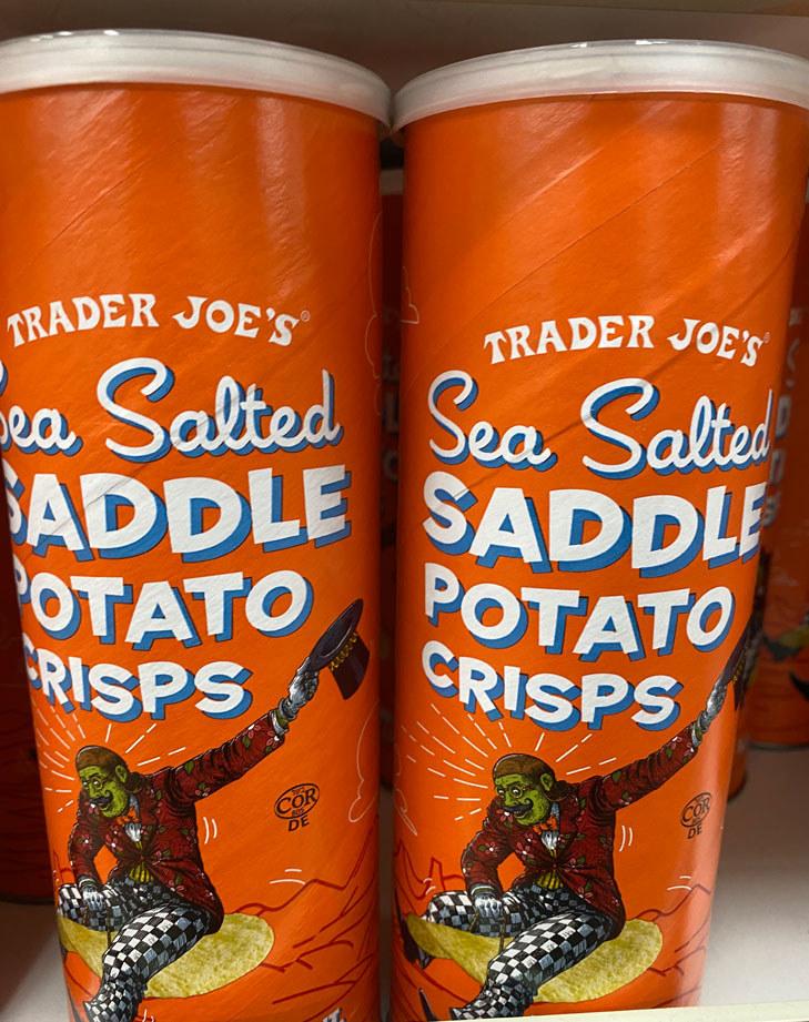 Sea Salted Saddle Potato Chips