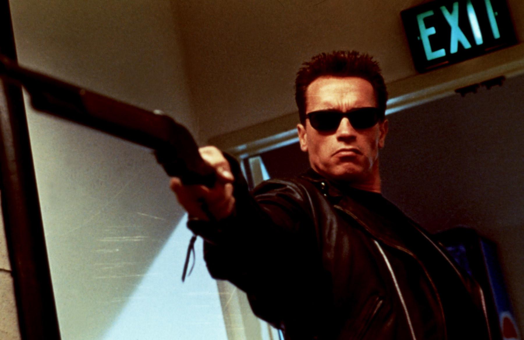 """Arnold Schwarzenegger in """"Terminator 2"""""""