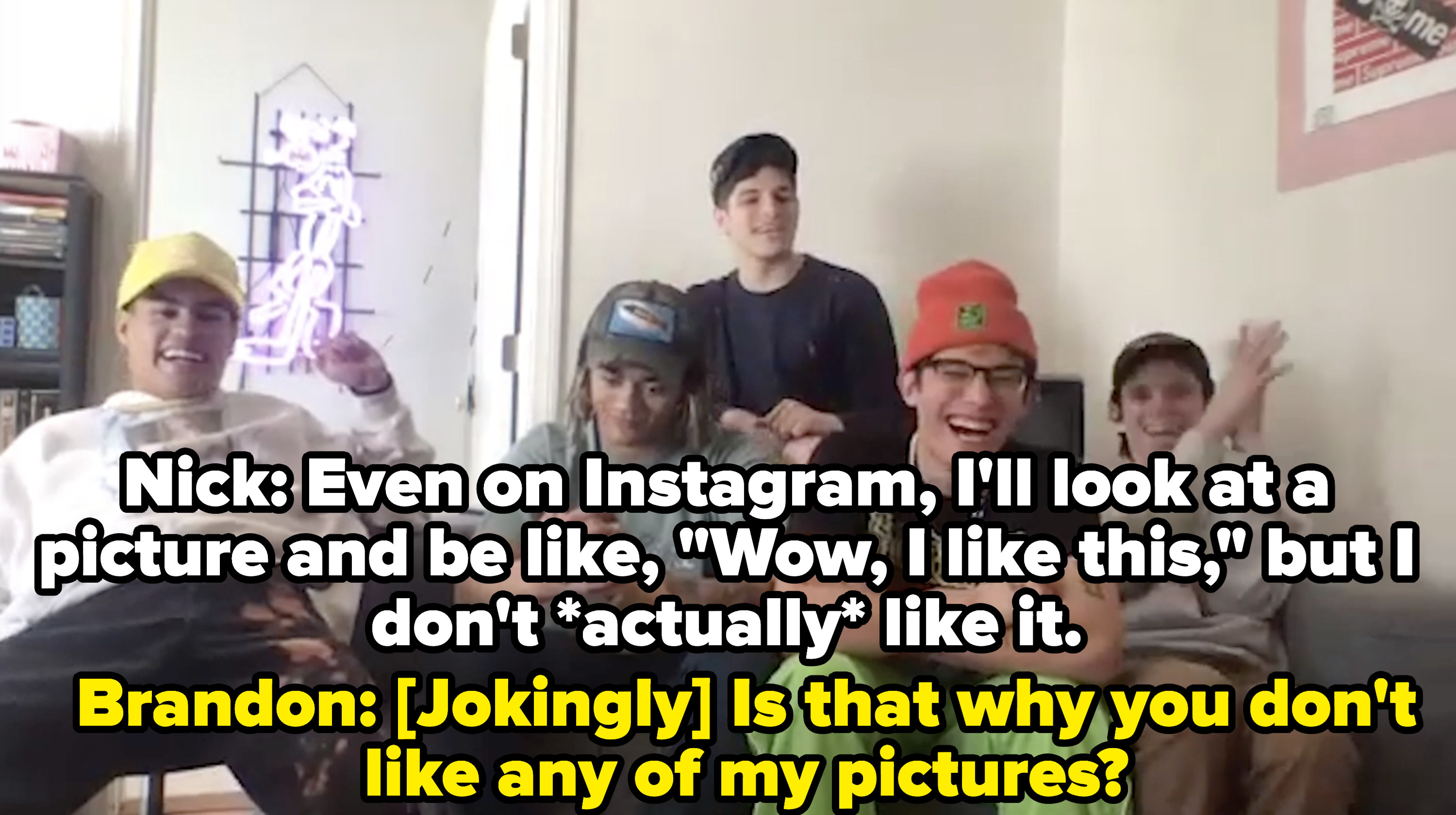 PRETTYMUCH plays a game of Who's Who