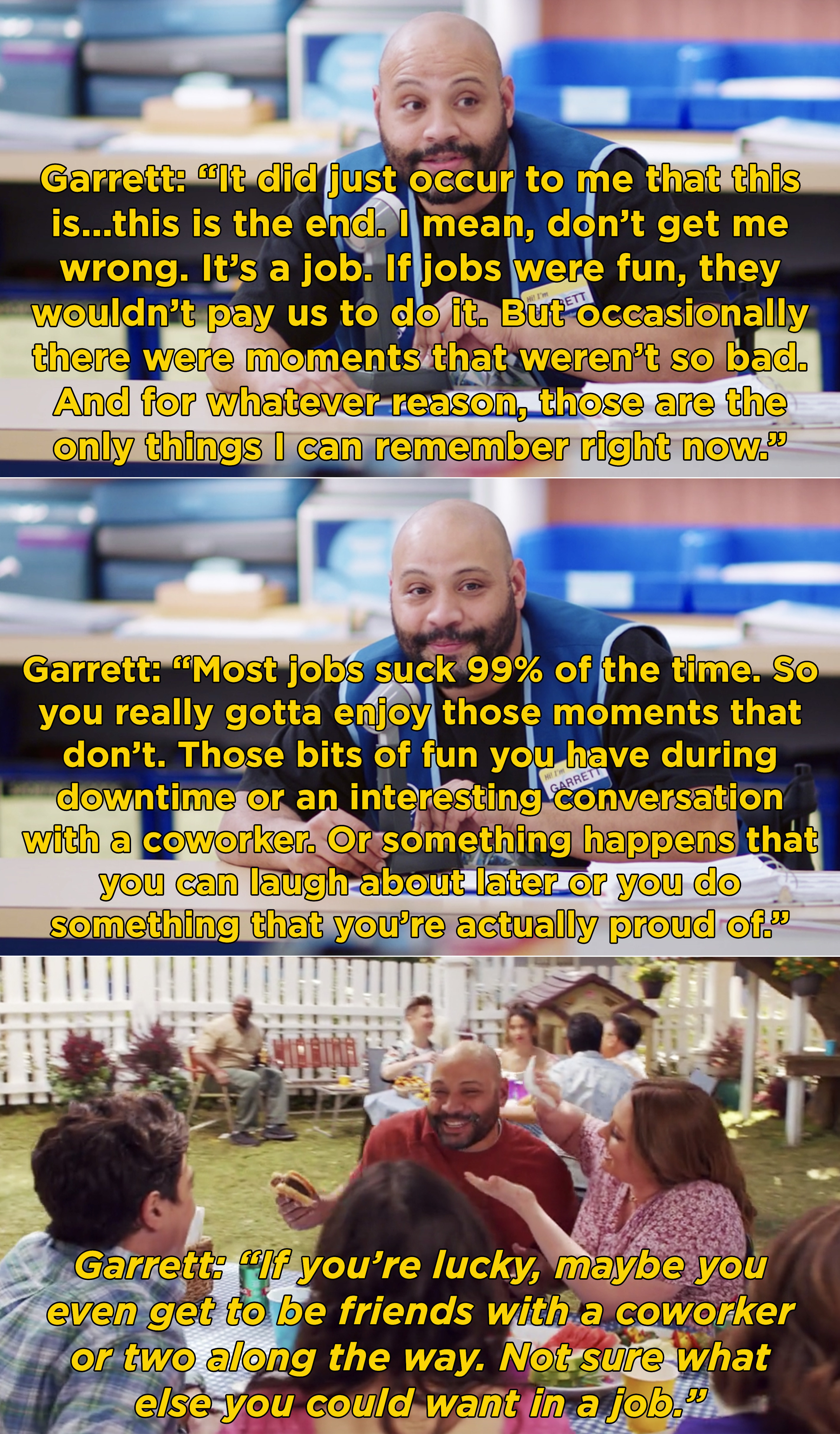Garrett explaining how working at Cloud 9 never felt like a job because they always had fun