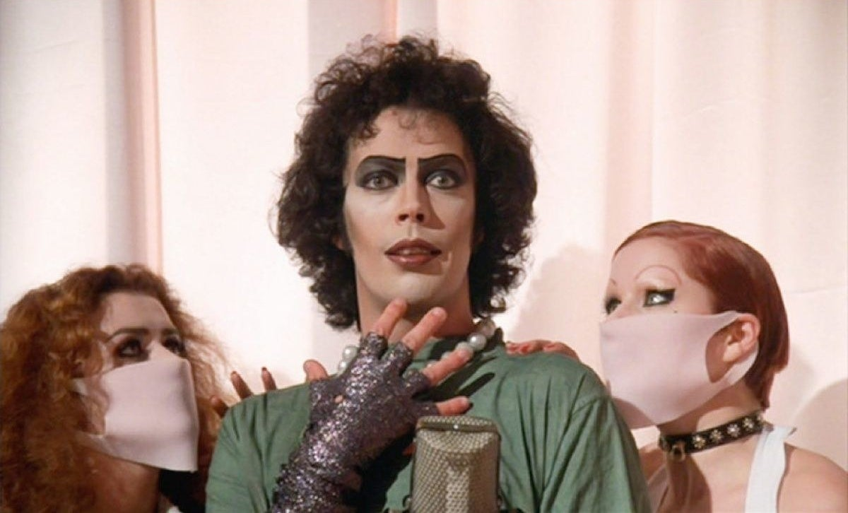 """Tim Curry starring in """"The Rocky Horror Picture Show"""""""