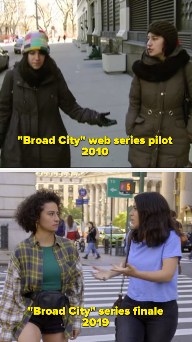 2010 Broad City web series pilot and the 2019 Broad City series finale