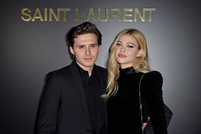 Brooklyn Beckham and Nicola Peltz at the Saint Laurent show at Paris Fashion Week 2020