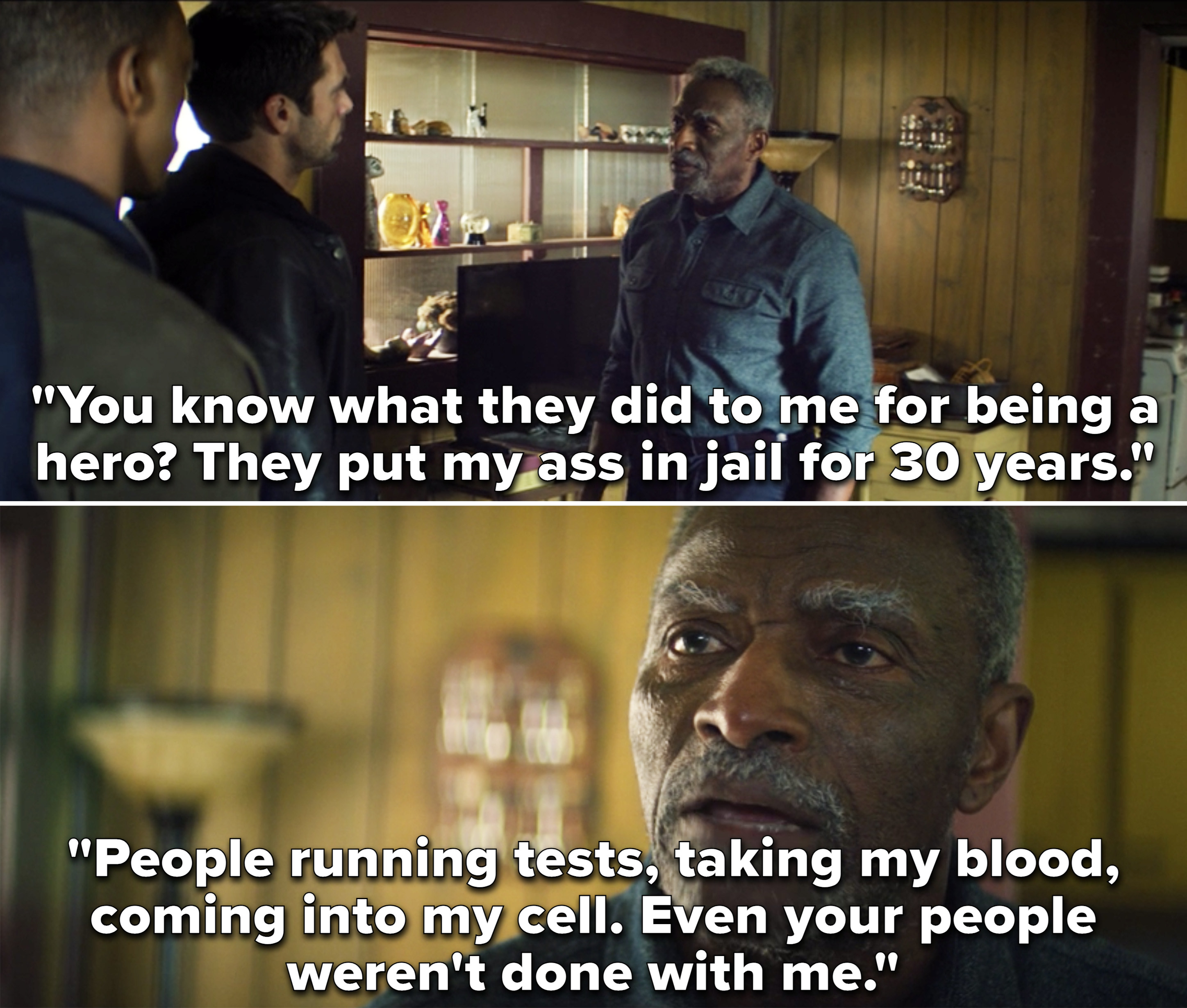 Isaiah saying that he was put in jail for 30 years and had tests run on him