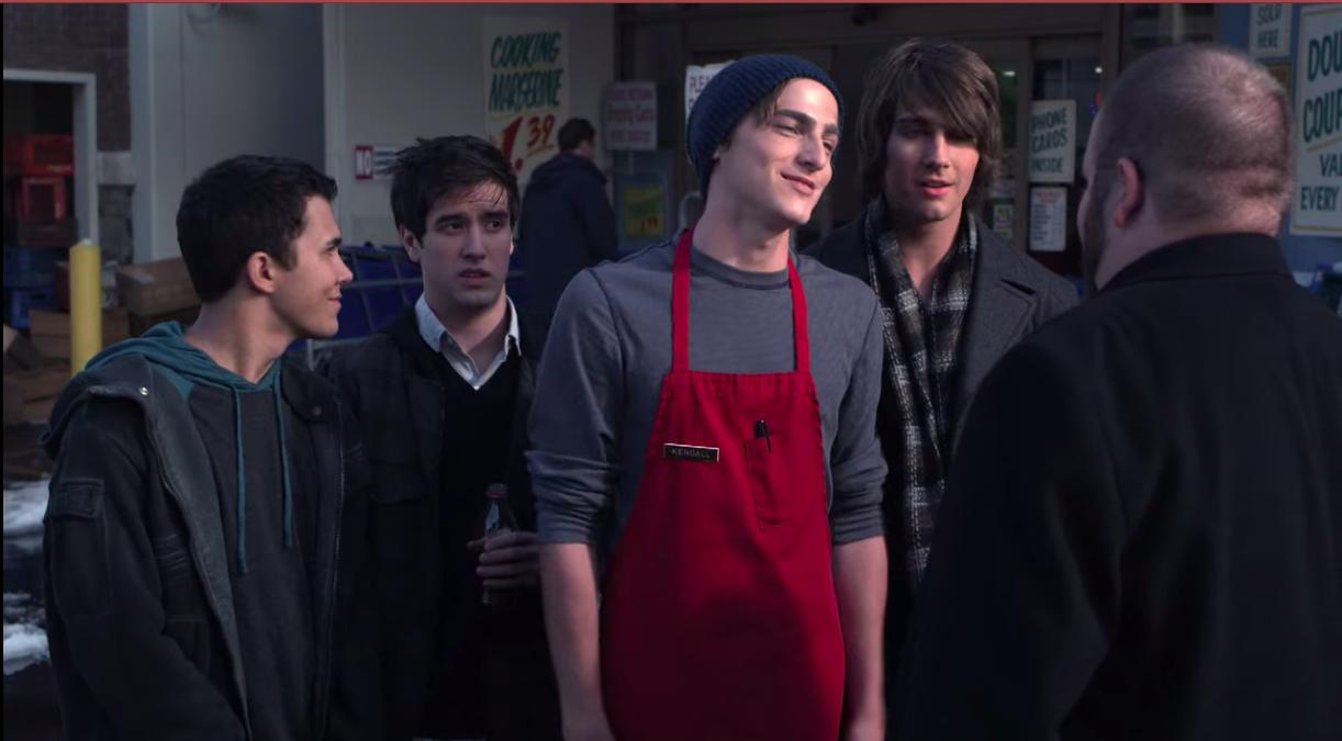 "Carlos, Logan, Kendall, and James in ""Big Time Rush"""
