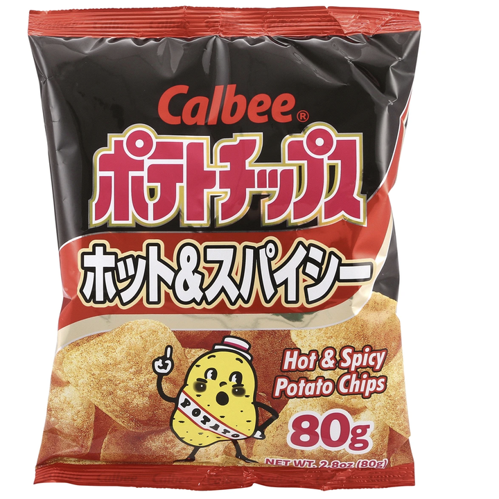 The hot & spicy chips in their packaging