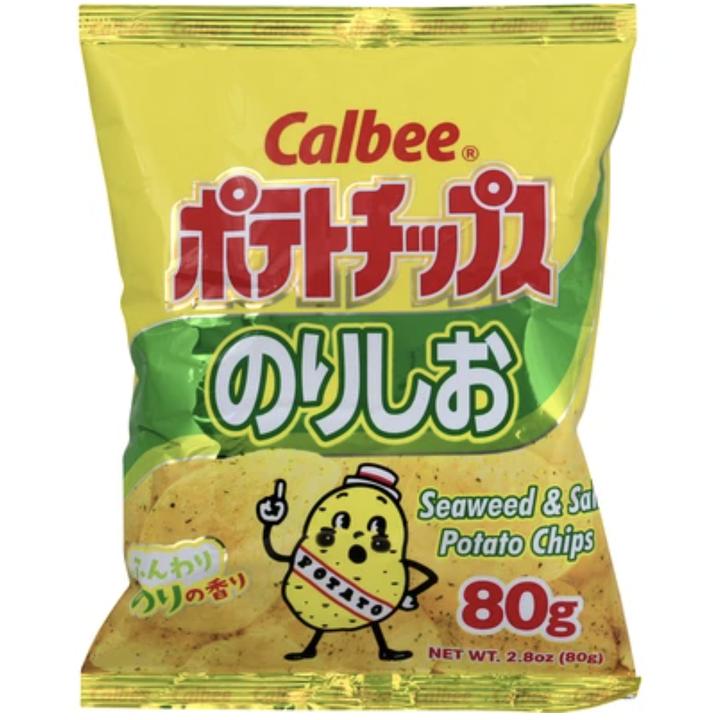 The seaweed & salt flavored chips in their packaging