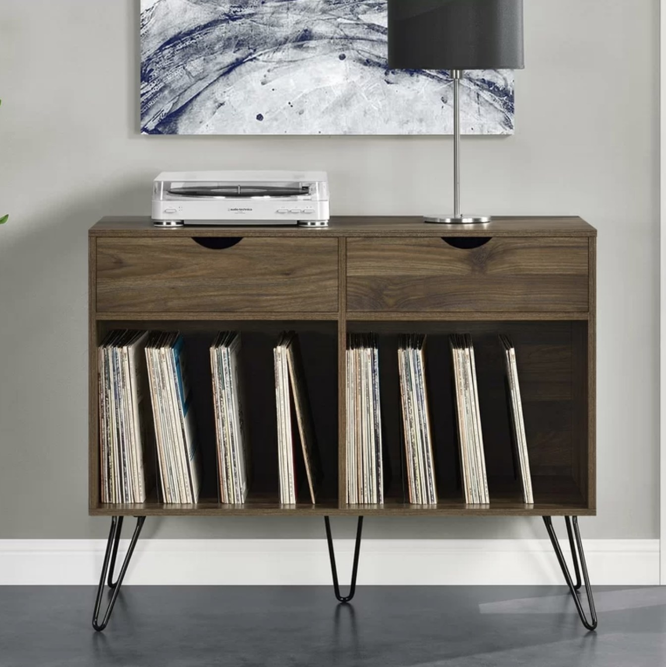 the audio stand in walnut