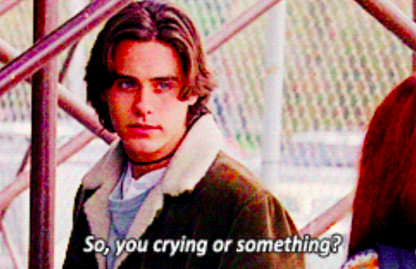 """Jordan Catalano from """"My So-Called Life"""" saying """"So, you crying or something?"""""""